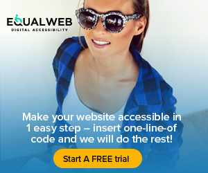 equalweb digital accessibility - make your website compliant with WCAG + ADA, Start Free
